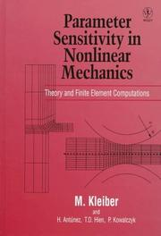 Cover of: Parameter sensitivity in nonlinear mechanics: theory and finite element computations