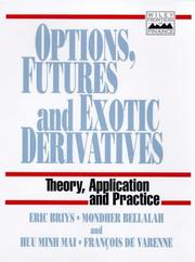 Cover of: Options, futures, and exotic derivatives |