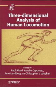 Cover of: Three-dimensional analysis of human locomotion