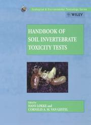 Cover of: Handbook of soil invertebrate toxicity tests |