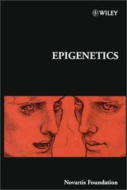 Cover of: Epigenetics | Symposium on Epigenetics (1997 Novartis Foundation)