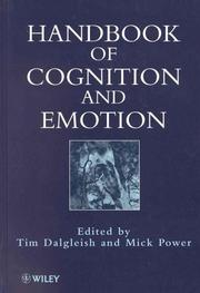 Cover of: Handbook of cognition and emotion |