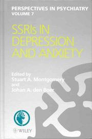 Cover of: SSRIs in depression and anxiety |