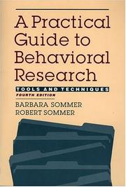 Cover of: A Practical Guide to Behavioral Research | Robert Sommer