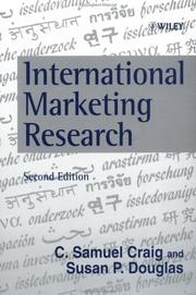 Cover of: International marketing research