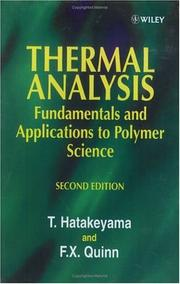 Thermal analysis by T. Hatakeyama