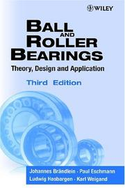 Cover of: Ball and roller bearings |