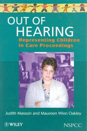 Cover of: Out of hearing