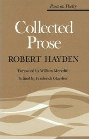 Cover of: Collected prose | Robert Earl Hayden