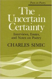 Cover of: The Uncertain Certainty