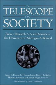Cover of: A Telescope on Society |