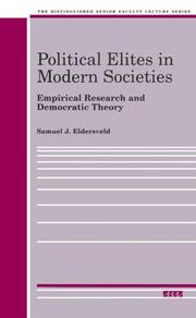 Cover of: Political elites in modern societies