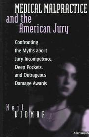 Cover of: Medical Malpractice and the American Jury