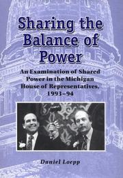 Cover of: Sharing the balance of power