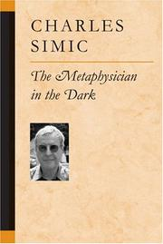 Cover of: The metaphysician in the dark