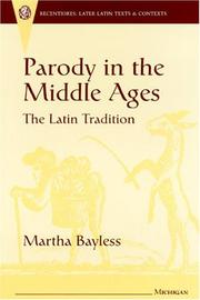 Cover of: Parody in the Middle Ages: The Latin Tradition (Recentiores: Later Latin Texts and Contexts)