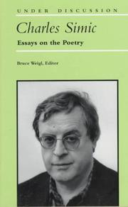 Cover of: Charles Simic