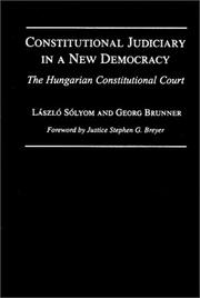 Cover of: Constitutional judiciary in a new democracy