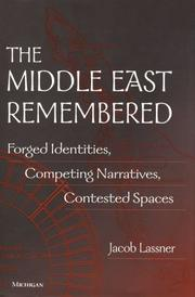 Cover of: The Middle East Remembered | Jacob Lassner