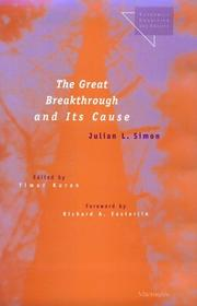Cover of: The Great Breakthrough and Its Cause (Economics, Cognition, and Society)