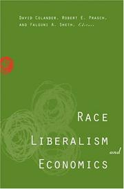 Cover of: Race, liberalism, and economics |