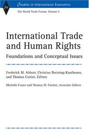 Cover of: International trade and human rights