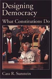 Cover of: Designing democracy: what constitutions do