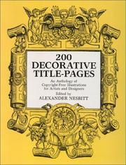 Cover of: Two Hundred Decorative Title Pages | Alexander Nesbitt