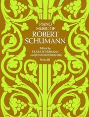 Cover of: Piano Music of Robert Schumann, Series III