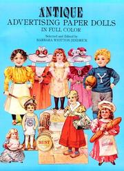 Cover of: Antique Advertising Paper Dolls | Barbara W. Jendrick