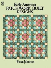 Cover of: Early American Patchwork Quilt Designs