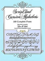 Cover of: Script and Cursive Alphabets