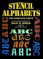 Cover of: Stencil alphabets