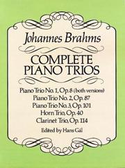 Cover of: Complete Piano Trios