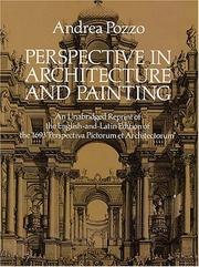 Cover of: Perspective in architecture and painting