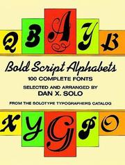 Cover of: Bold Script Alphabets by Dan X. Solo