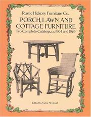 Cover of: Porch, Lawn, and Cottage Furniture | Victor M. Linoff
