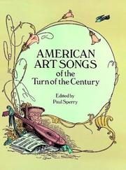 Cover of: American Art Songs of the Turn of the Century | Paul Sperry