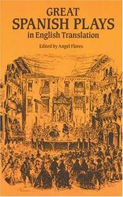 Cover of: Great Spanish plays in English translation