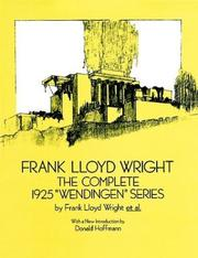 Frank Lloyd Wright by Frank Lloyd Wright