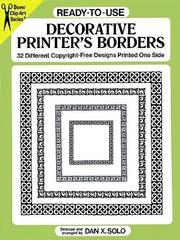 Cover of: Ready-to-Use Decorative Printer's Borders