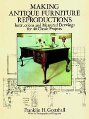 Cover of: Making antique furniture reproductions