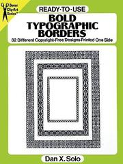 Cover of: Ready-to-Use Bold Typographic Borders