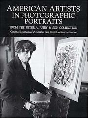 Cover of: American artists in photographic portraits