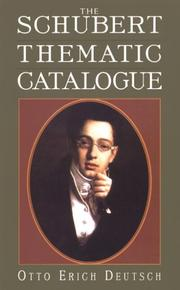 Cover of: The Schubert thematic catalogue