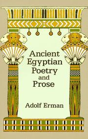 Cover of: Ancient Egyptian poetry and prose