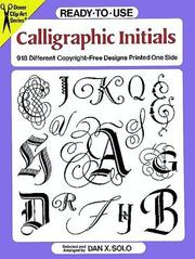 Cover of: Ready-to-Use Calligraphic Initials