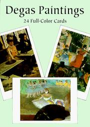 Cover of: Degas Paintings: 24 Full-Color Cards (Card Books)