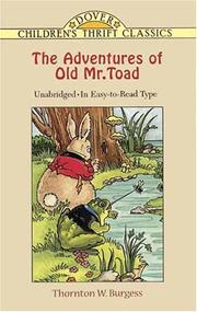 Cover of: The Adventures of Old Mr. Toad