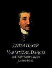 Cover of: Variations, Dances and Other Shorter Works for Solo Piano